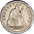 Seated Quarters, 1854-O 25C Arrows, Huge O, Briggs 1-A, FS-501, AU50 NGC....