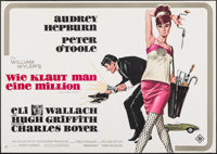 """How to Steal a Million (20th Century Fox, 1966). Folded, Very Fine. German A0 (33"""" X 46.75"""") Bruno Rehak Artwo..."""
