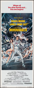 "Movie Posters:James Bond, Moonraker (United Artists, 1979). Folded, Very Fine-. Insert (14"" X 36""). Dan Goozee Artwork. James Bond.. ..."