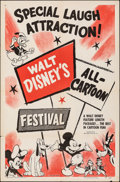 "Movie Posters:Animation, Disney Cartoon Festival (RKO, 1965). Folded, Very Fine-. Stock One Sheet (27"" X 41""). Animation.. ..."