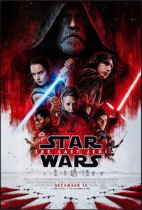"Star Wars: The Last Jedi (Walt Disney Studios, 2017). Rolled, Very Fine/Near Mint. One Sheet (27"" X 40"") DS, A..."