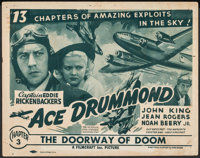 """Ace Drummond (Filmcraft, R-1940s). Fine+. Title Lobby Card (11"""" X 14"""") Chapter 3 -- """"The Doorway of Doom..."""