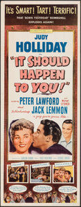 """Movie Posters:Comedy, It Should Happen to You! (Columbia, 1954). Folded, Very Fine-. Insert (14"""" X 36""""). Comedy.. ..."""