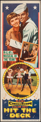 """Hit the Deck (MGM, 1955). Folded, Fine/Very Fine. Door Panel #1 (20"""" X 60""""). Musical"""