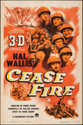 """Movie Posters:War, Cease Fire! & Other Lot (Paramount, 1953). Folded, Very Fine-. One Sheets (2) (27"""" X 41"""") 3-D Style. War.. ... (Tot..."""
