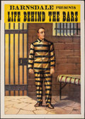 """Movie Posters:Documentary, Life Behind the Bars (Barnsdale, 1903). Rolled, Fine/Very Fine. Poster (21"""" X 29""""). Documentary.. ..."""