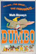 """Movie Posters:Animation, Dumbo & Other Lot (Buena Vista, R-1976). Folded, Fine/Very Fine. One Sheets (2) (27"""" X 41""""). Animation.. ... (Total..."""