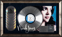Norah Jones Platinum Record Display: Come Away with Me (RIAA, 2003). Fine/Very Fine. Framed Platinum Record, CDs (7), &a...