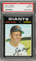 Baseball Cards:Singles (1970-Now), 1971 Topps Willie Mays #600 PSA Mint 9 - None Higher! ...