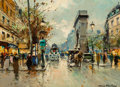 Paintings, Antoine Blanchard (French, 1910-1988). Porte St. Denis. Oil on canvas. 13 x 18 inches (33.0 x 45.7 cm). Signed lower rig...