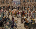 Paintings, Jacques Martin-Ferrières (French, 1893-1972). Marché en Corse, 1927. Oil on canvas. 25-1/2 x 32 inches (64.8 x 81.3 cm)...
