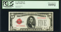Small Size:Legal Tender Notes, Fr. 1526 $5 1928A Legal Tender Note. PCGS Choice About New 55PPQ.. ...