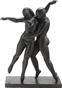Ferdinand Parpan (French, 1902-2004) Dancer Bronze 22-3/4 x 15 x 6 inches (57.8 x 38.1 x 15.2 cm