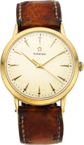 Timepieces:Wristwatch, Omega, 33mm Manual Wind, 14k Gold, Ref. P6521, Circa 1950. ...