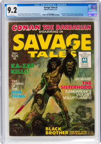 Savage Tales #1 (Marvel, 1971) CGC NM- 9.2 White pages