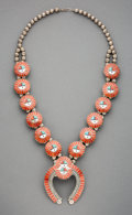 American Indian Art:Jewelry and Silverwork, A Zuni Squash Blossom Necklace c. 1950 ...