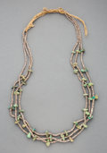 American Indian Art:Jewelry and Silverwork, A Pueblo Necklace c. turquoise, heishi ...