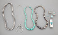 American Indian Art:Jewelry and Silverwork, Nine Southwest Jewelry Items... (Total: 9 )