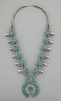 American Indian Art:Jewelry and Silverwork, A Navajo Squash Blossom Necklace, Maggie C. Yazzie...