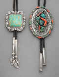 American Indian Art:Jewelry and Silverwork, Two Southwest Bolo Ties... (Total: 2 )