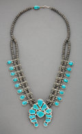 American Indian Art:Jewelry and Silverwork, A Navajo Squash Blossom Necklace, Orville Tsinnie...