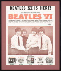 Beatles VI Rare Capitol Records Promotional Poster (US, 1965)