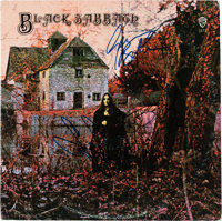 Black Sabbath Stereo Vinyl LP Signed by Ozzy Osbourne, Tony Iommi, and Geezer Butler (Warner Bros., 1871)