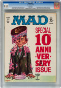 Magazines:Mad, MAD #72 (EC, 1962) CGC NM/MT 9.8 White pages....