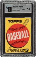 Baseball Cards:Unopened Packs/Display Boxes, 1963 Topps Baseball (2nd/3rd Series) 5-cent Wax Pack GAI NM+ 7.5. ...