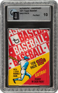 Baseball Cards:Unopened Packs/Display Boxes, 1971 Topps Baseball Wax Pack GAI Perfect 10 - In 1970 Wrapper. ...