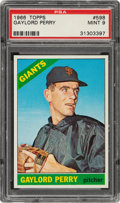 Baseball Cards:Singles (1960-1969), 1966 Topps Gaylord Perry #598 PSA Mint 9 - Only One Higher! ...