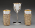 Silver & Vertu, A Group of Three British Partial Gilt Silver Vessels