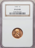 Five Piece 1950 Proof Set PR65 to PR67 NGC. The set includes: Cent PR65 Red; Nickel PR67; Dime PR66; Quarter PR65; Half...