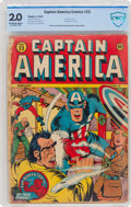Golden Age (1938-1955):Superhero, Captain America Comics #23 (Timely, 1943) CBCS GD 2.0 Off-white to white pages....