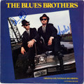 Music Memorabilia:Autographs and Signed Items, The Blues Brothers Soundtrack Vinyl LP Signed by Dan Aykroyd and John Landis (Atlantic, 16017)....