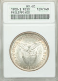 Philippines: USA Administration Peso 1908-S MS62 ANACS