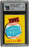 Baseball Cards:Unopened Packs/Display Boxes, 1960 Topps Baseball (4th Series) Wax Pack GAI NM 7 - Mantle, Aaron, Koufax, McCovey Rookie Series! ...