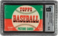 Baseball Cards:Unopened Packs/Display Boxes, 1952 Topps Baseball (1st Series) 5-Cent Wax Pack GAI EX+ 5.5. ...