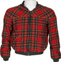 Music Memorabilia:Costumes, Keith Moon Owned Plaid Zip-Up Jacket From the Collection of Moon's Personal Assistant....