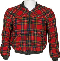 Keith Moon Owned Plaid Zip-Up Jacket From the Collection of Moon's Personal Assistant