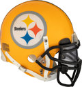 Football Collectibles:Helmets, 2009 Tyrone Carter Game Worn Pittsburgh Steelers Throwback Helmet....