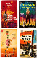 Books:Vintage Paperbacks, Large Science-Fiction Paperback Box Lot (Various Publishers, 1960s-90s)....