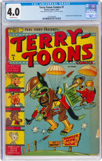 Terry-Toons Comics #1 (Timely, 1942) CGC VG 4.0 Off-white pages