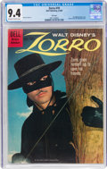 Silver Age (1956-1969):Adventure, Zorro #10 File Copy (Dell, 1960) CGC NM 9.4 Off-white to white pages....