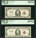 Fr. 1550 $100 1966 Legal Tender Note. PCGS Choice About New 58PPQ Fr. 1551 $100 1966A Legal Tender Note. PCGS C... (Tota...