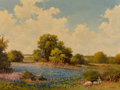 Paintings, Robert William Wood (American, 1889-1979). Hill Country Spring. Oil on canvas. 30 x 40 inches (76.2 x 101.6 cm). Signed ...