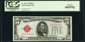 Small Size:Legal Tender Notes, Fr. 1527 $5 1928B Legal Tender Note. PCGS Gem New 66PPQ.. ...