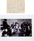 Music Memorabilia:Autographs and Signed Items, Billie Holiday and Band Autograph Set.... (Total: 0 Items)