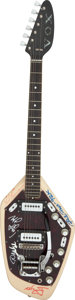 Musical Instruments:Electric Guitars, Paul Revere and the Raiders Signed Vox Phantom Electric Guitar (Serial #367968). ...