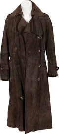 Music Memorabilia:Costumes, Keith Moon Owned Brown Suede Trench Coat From the Collection of Moon's Personal Assistant....